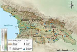 File Physical Map Of Georgia  Ka  Svg