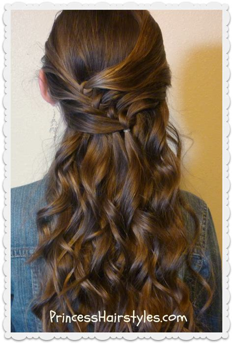 Half Up Diagonal Knots Hairstyle Tutorial Hairstyles For