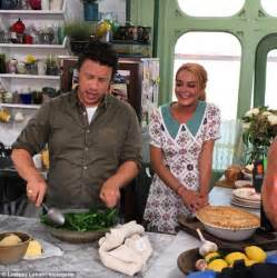 jimmy oliver cuisine tv lindsay lohan hones cooking skills with oliver