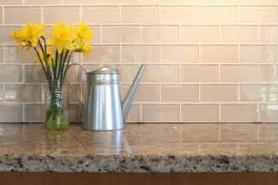 kitchen backsplashes with white cabinets country cottage light taupe 3x6 glass subway tiles