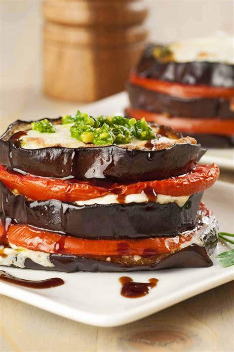 Eggplant, Tomato and Pesto Napoleons Recipe ...
