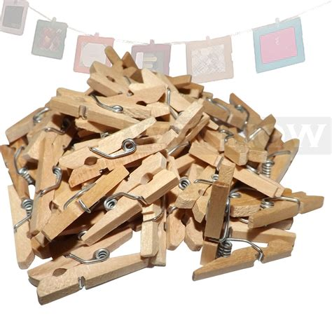 50 pc 1 034 inch small clothespin natural