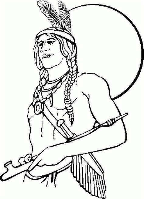 printable indian coloring pages coloring home