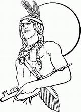 Coloring Indian Printable Pages Colouring Sheets Thanksgiving Popular sketch template