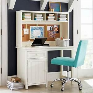 beadboard space saving desk hutch pbteen With cute teen desks