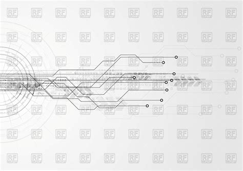 Grey Tech Circuit Board Background Vector Image