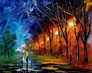 Modern impressionism palette knife oil painting kp144 ...