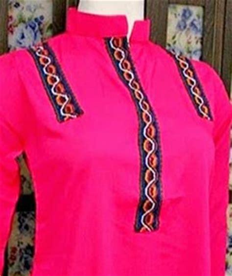 simple neck gala designs   ladies suits catalogue