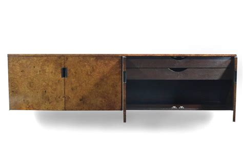 Roger Sprunger Burled Wood Wall-mounted Credenza By Dunbar