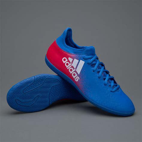 sepatu futsal adidas x 16 3 in blue white shock pink