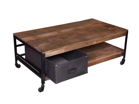 table basse avec tiroir table basse avec tiroir factory bois fer