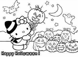 Hello Kitty Happy Halloween Coloring Pages >> Disney ...