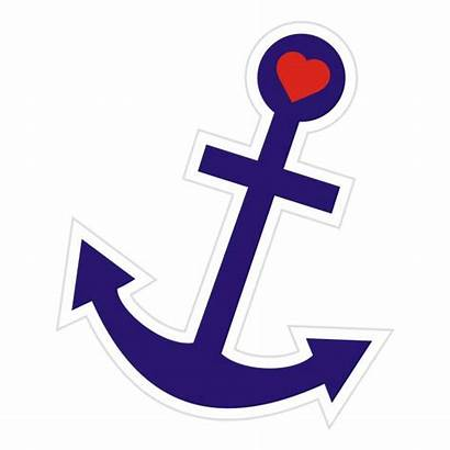 Anchor Heart Object Single Anker Ancre Label