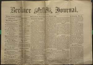 The Berliner Journal | Special Collections & Archives ...