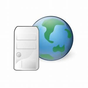 World wide web server icon vector drawing | Public domain ...
