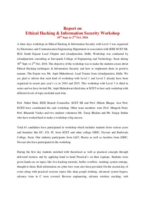 Ethical Hacker Resume by Report On Ethical Hacking Oct 2016