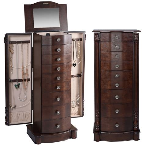 armoire jewelry cabinet box storage chest stand organiser