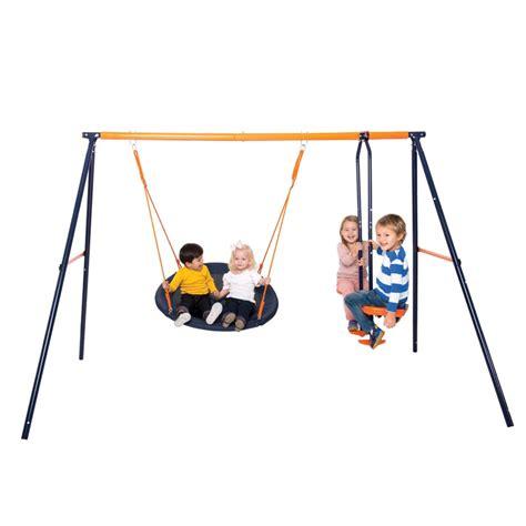 hedstrom swing set hedstrom nebula nest swing glider all