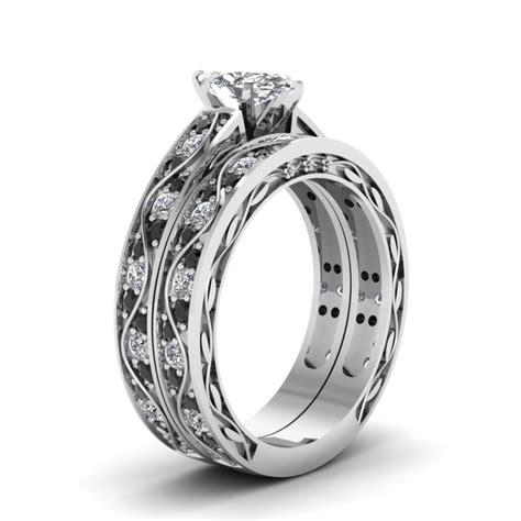 marquise shaped black cubic zirconia antique wedding ring