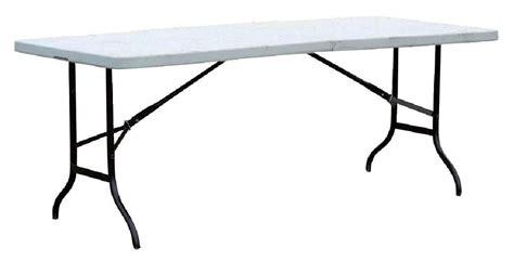 table pliante blanche l183 x p76 x h74 cm mat 233 riel de