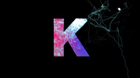 color k letter k multi colored appear then disappear