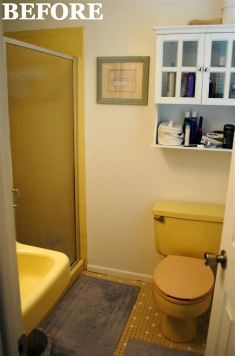 yellow bathroom makeover bathroom
