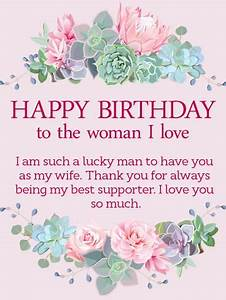 This lovely birthday card for your loving wife will put ...