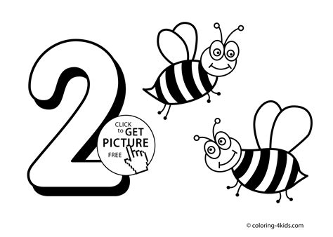 numbers coloring pages  kids printable  digits