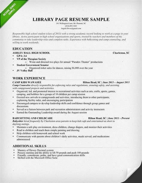 Tips For Constructing A Resume by Librarian Resume Sle Jennywashere