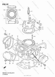 Suzuki Motorcycle 2002 Oem Parts Diagram For Cylinder  Model K2