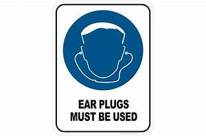 Ear Plugs Mandatory sign - National Safety Signs - Hearing ...