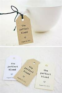 Personalized kraft wedding tags with saying quotthe perfect for Small tags for wedding favors