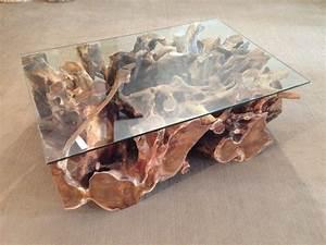 Wurzelholz Tisch Mit Glasplatte : couchtisch wohnzimmertisch aus einer baumwurzel der tischonkel ~ Bigdaddyawards.com Haus und Dekorationen