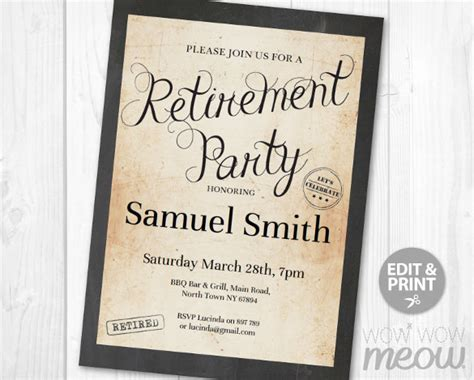 retirement party flyer template   documents