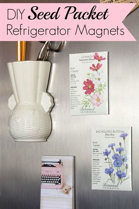 minute craft diy seed packet refrigerator magnets