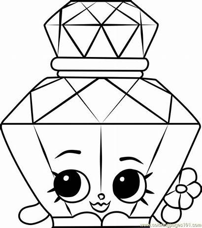 Shopkins Coloring Pages Hopkins Perfume Polly Cookie