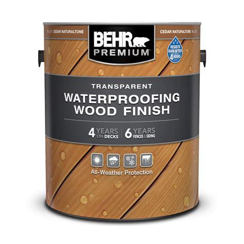 transparent waterproofing wood finish behr premium behr