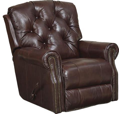 best leather recliner catnapper davidson top grain leather match rocker recliner