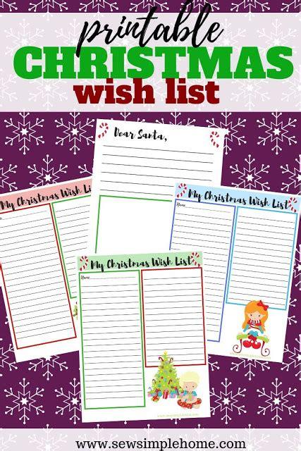christmas  list  letter  santa printables