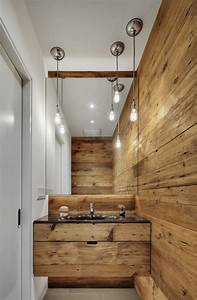 Rustic modern bathroom design ideas maison valentina blog for Bathroom in the woods