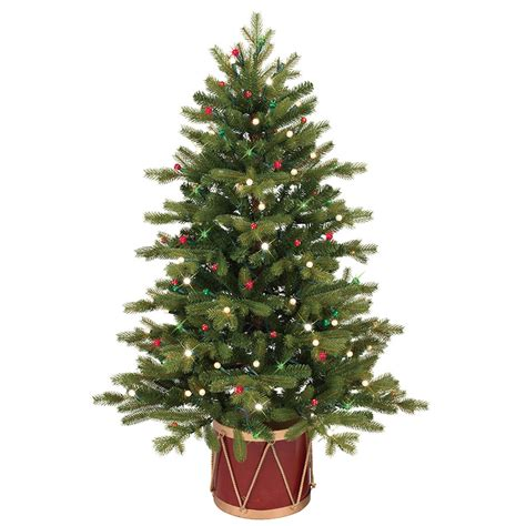 shop ge 4 ft pre lit colorado spruce slim artificial christmas tree with white clear