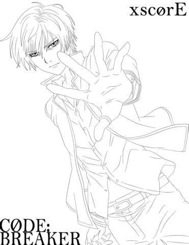Ogami Rei from Code Breaker coloring page Free Printable