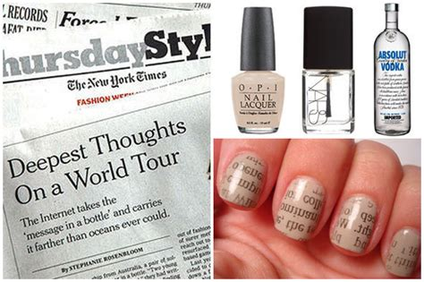 newspaper inspired nail art diy huffpost