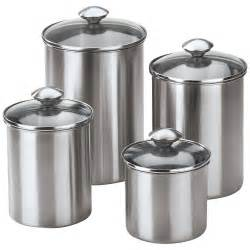 stainless steel kitchen canisters sets 4 stainless steel modern kitchen canister set ebay