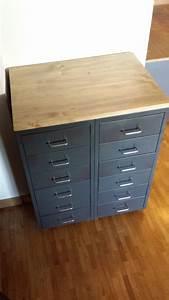Meuble Bureau Ikea : meuble industriel avec caissons helmer ~ Mglfilm.com Idées de Décoration