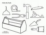 Coloring Tool Pages Box Tools Construction Colouring Toolbox Clipart Template Pdf Carpenter Preschool Crafts Belt Kit Gears Worksheets Printing Clip sketch template