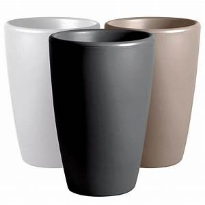 Cache Pot Exterieur : pot pour fleurs vase int rieur ext rieur x cm anthracite ~ Teatrodelosmanantiales.com Idées de Décoration