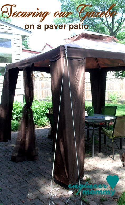 tips  secure  gazebo canopy   paver patio outdoor