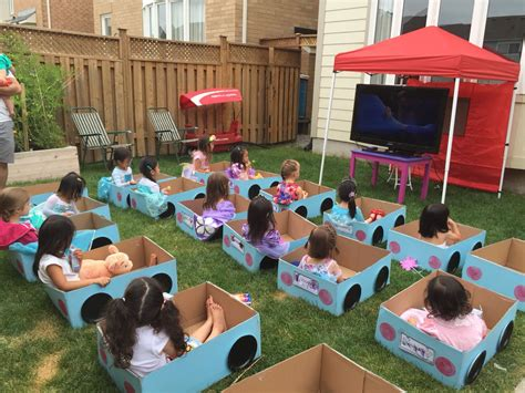 Leahs Drive-in Movie Birthday Party. Its Daylight So A