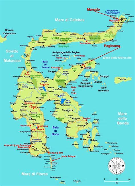 large sulawesi island maps     print
